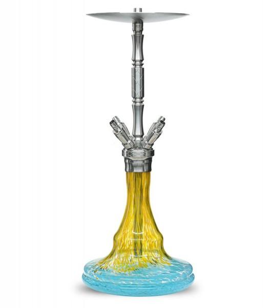 WD Hookah Edelstahlshisha G33-1 - Prag Yellow Blue