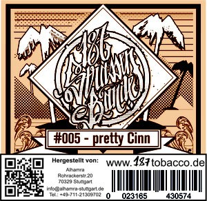 187 Strassenbande Tabak - Pretty Cinn 200g