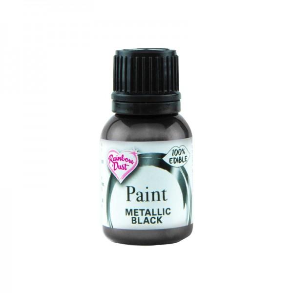 Metallic Food Paint - Metallic Black